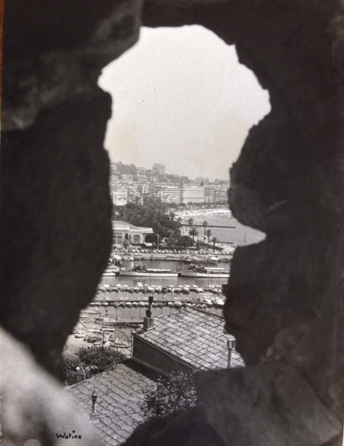 Cannes années 70, le vieux port vu du Suquet