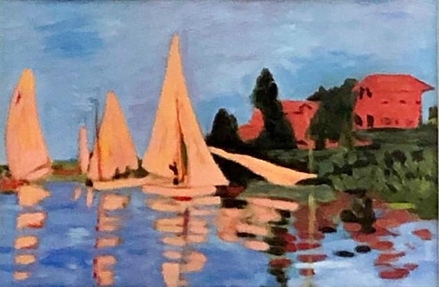 Régate près d'Argenteuil d'après Claude Monet