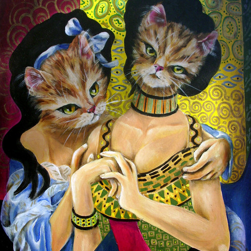 Reinterpetation of the sisters of Klimt