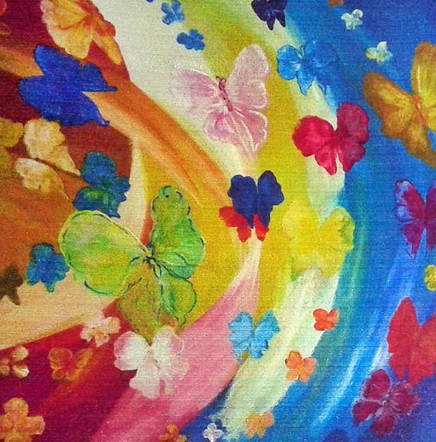 """Arc en ciel de papillons """"Liberté"""""""