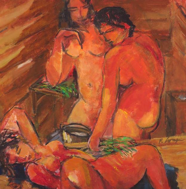 Détente au sauna