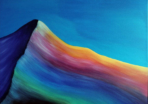 La montagne arc-en-ciel