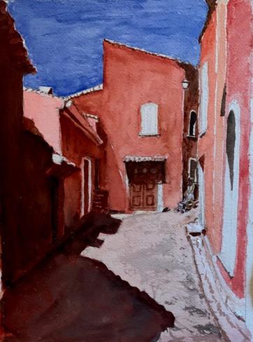 Une rue de Roussillon