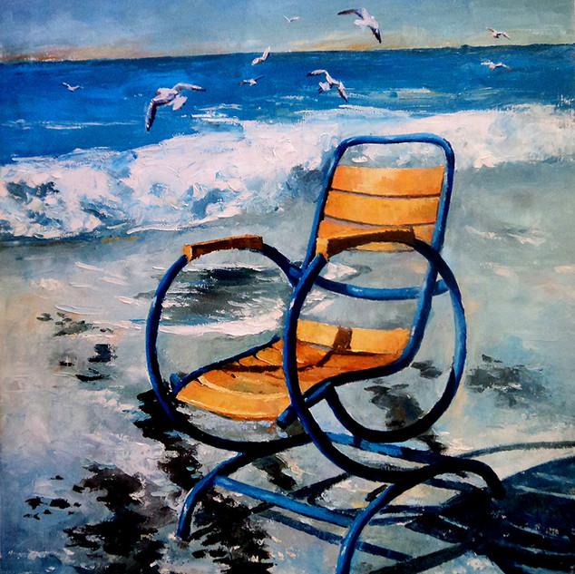 Chaise au bord de la mer