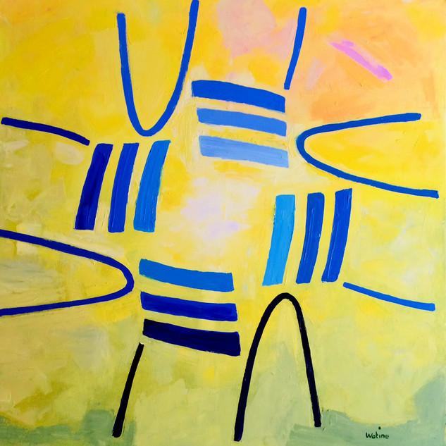 La ronde des chaises bleues