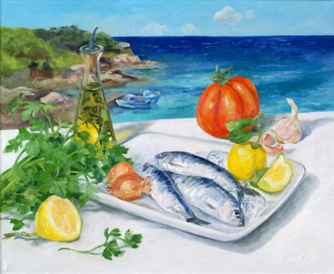 Nature morte aux sardines
