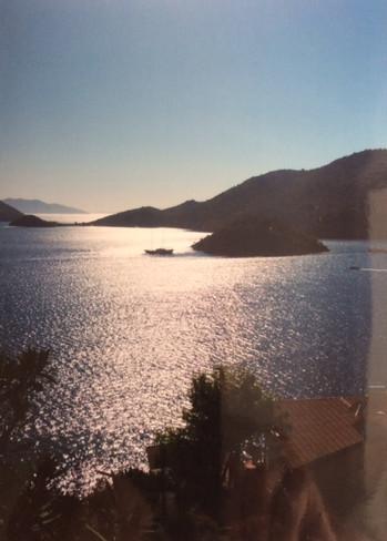Crépuscule sur la mer Égée