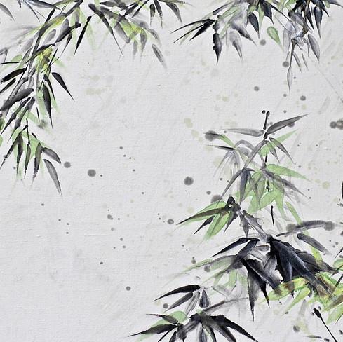Bambous sous la pluie