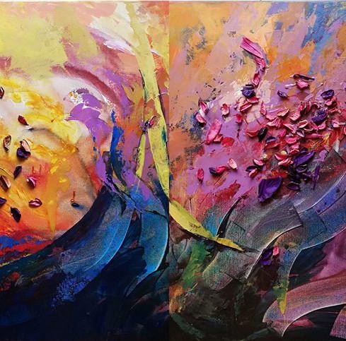 Fleurs au vent (vendu)