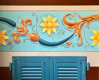 Décors volets et frise murale