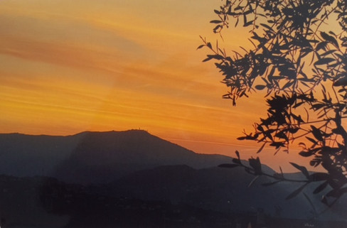 Pégomas, lever de soleil