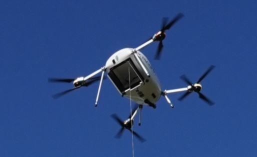 Coffee Delivered by Drone in Small Irish Town