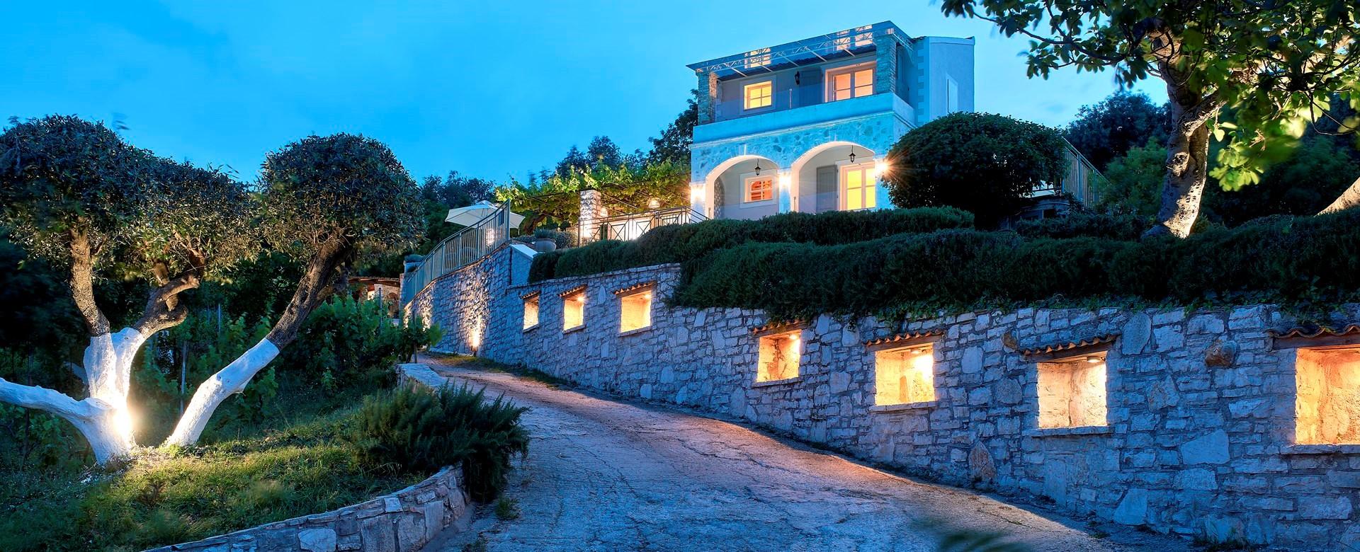 villa-kokkini-corfu-exterior-twilight