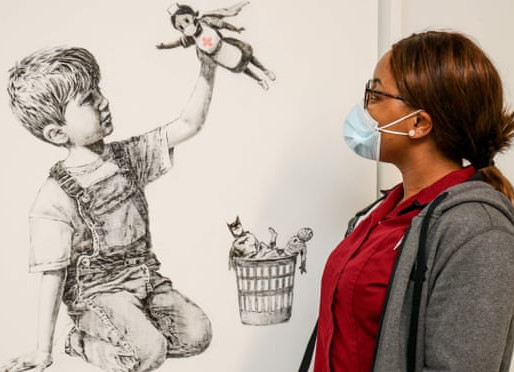 Banksy Raises £17m for Charity