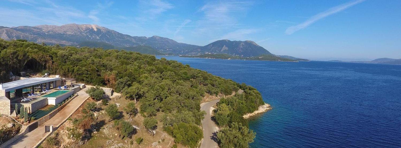 villa-saloma-meganissi-aerial-view