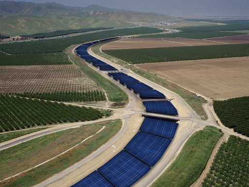 Solar Panels on California's Canals