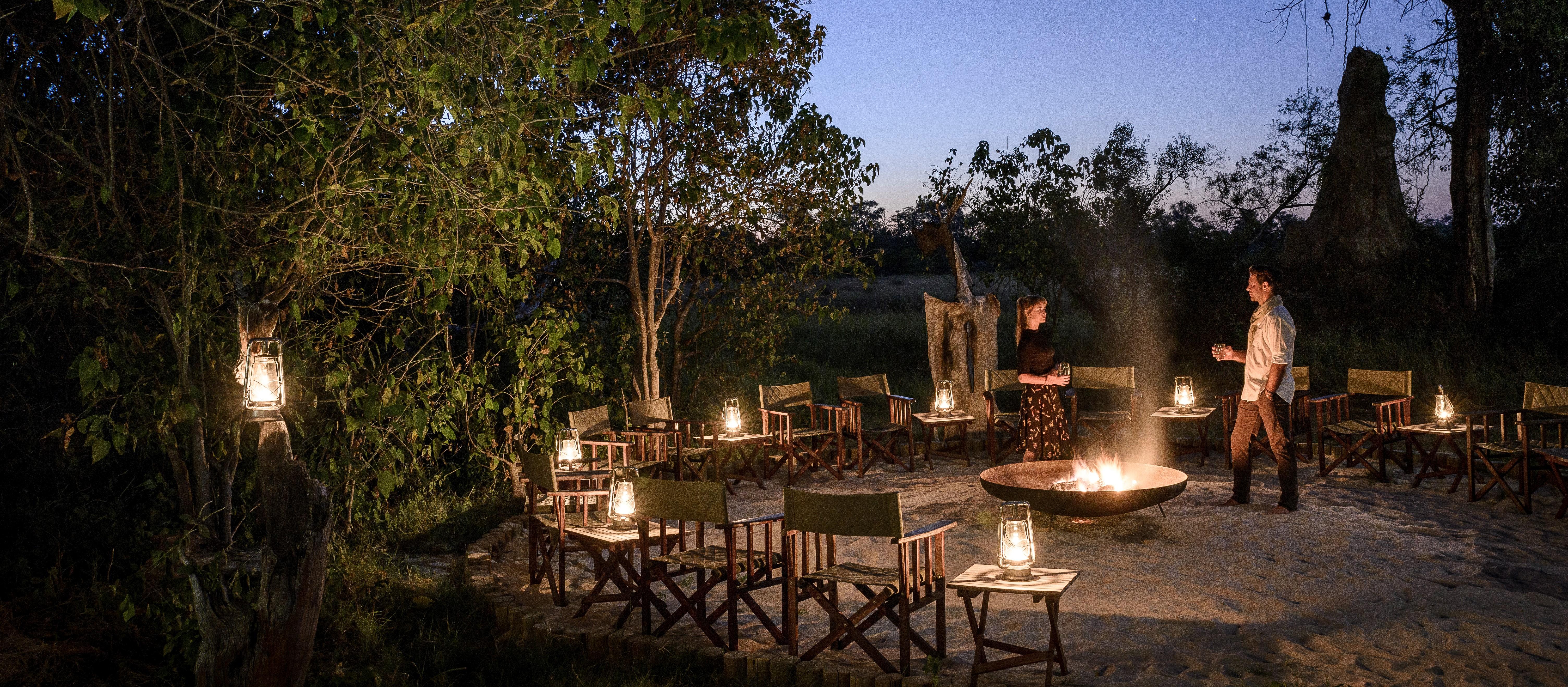 camp-fire-okavango-delta