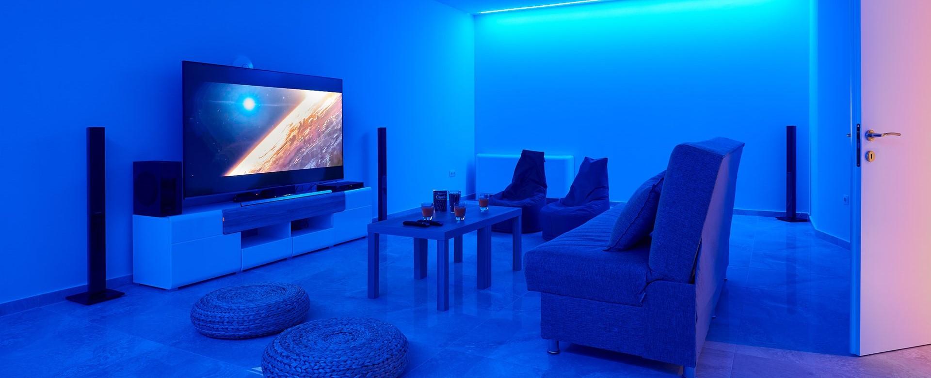 nero-beach-house-corfu-cinema-room
