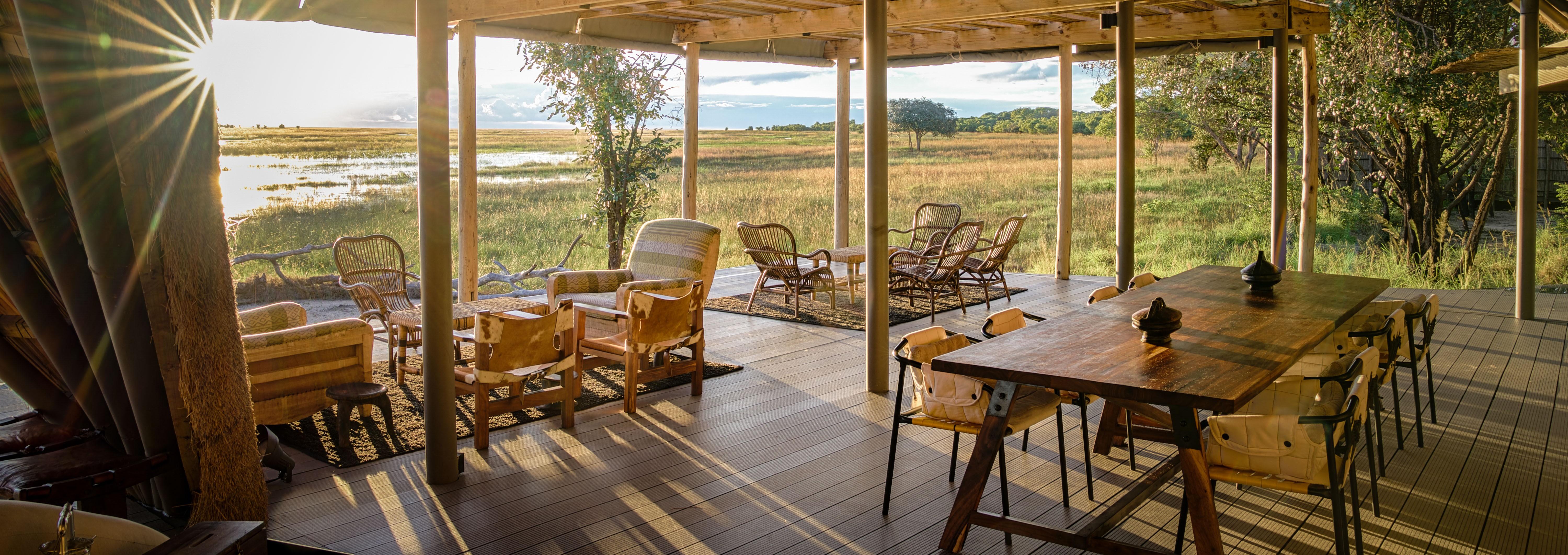 king-lewanika-camp-dining-room