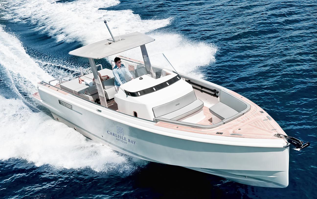 luxury-beach-resort-antigua-boat
