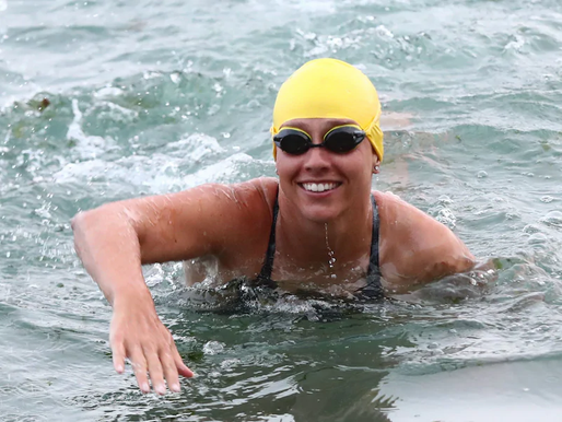 Swimmer Breaks Record
