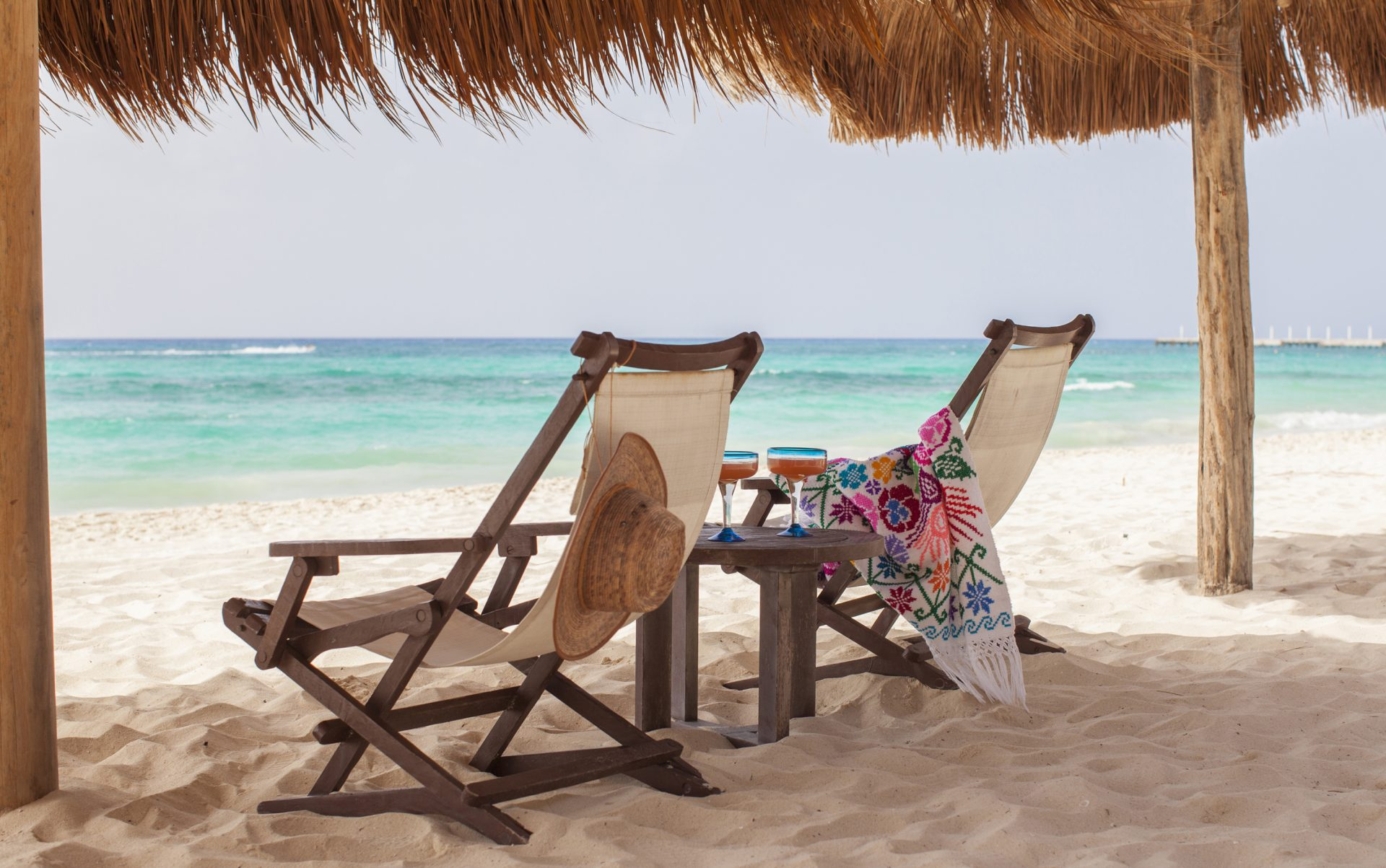 playa-del-carmen-beach-deck-chairs