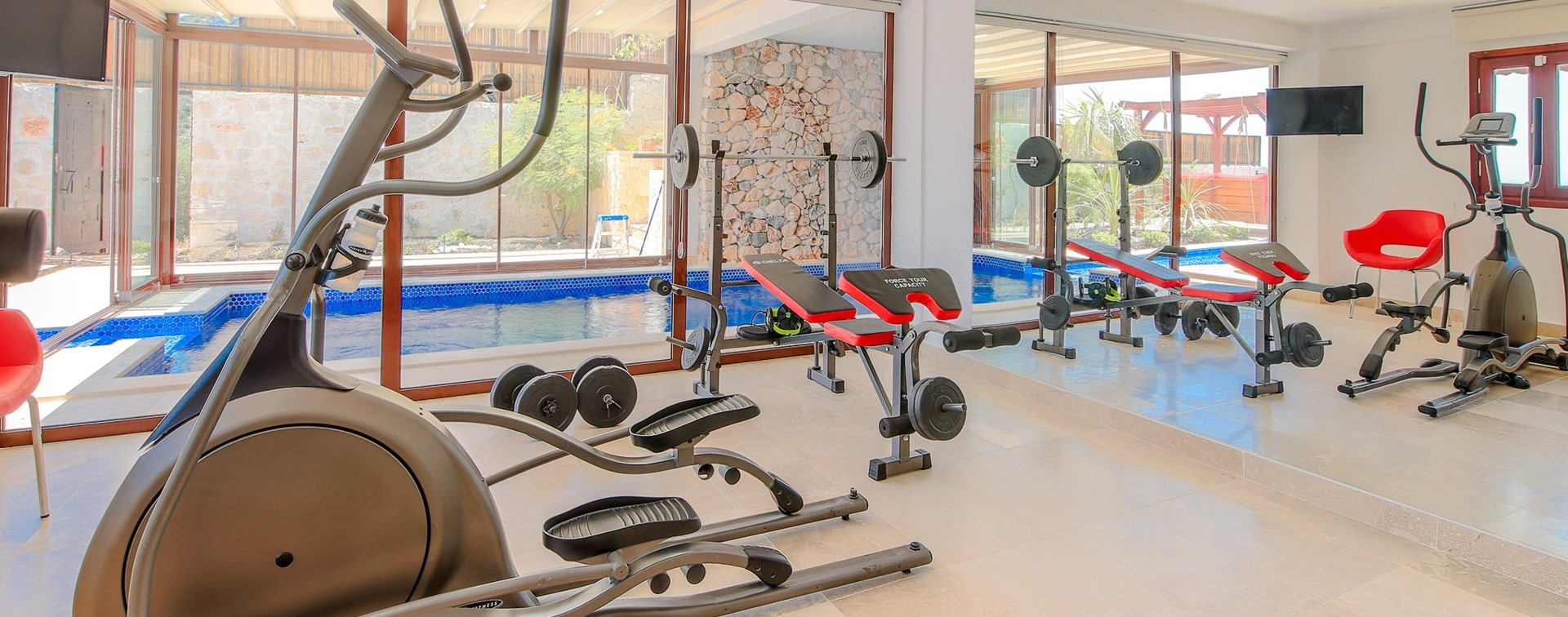 villa-caria-kalkan-indoor-fitness-gym