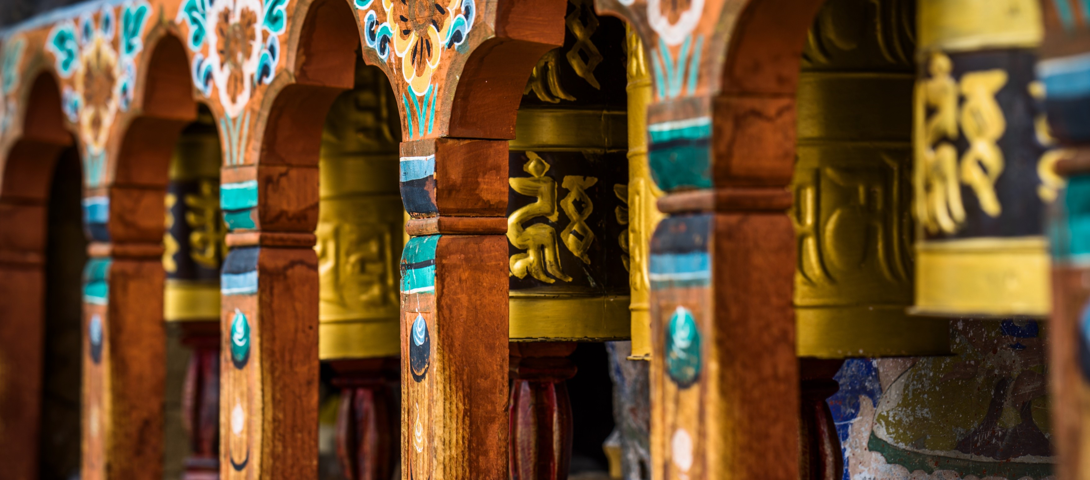Kyichu-Lhakhang-prayer-wheels