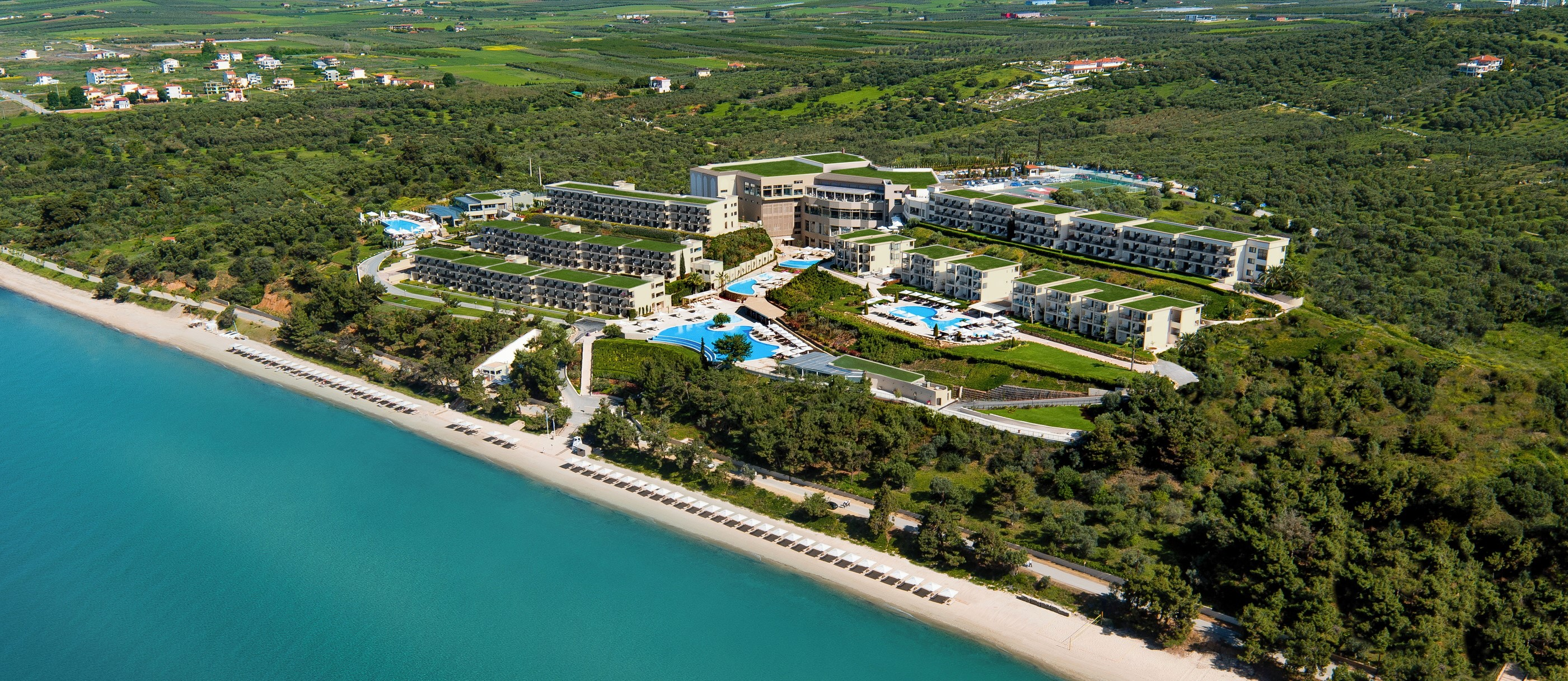 Ikos-Oceania-beach-resort-aerial