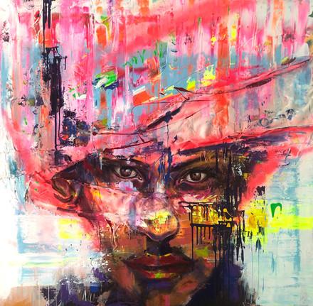 HUM XVI, acrylic on canvas. (120x120cm)