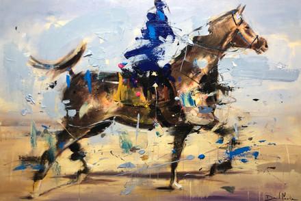 ÁRABE II, acrylic over canvas.  (120x80cm)