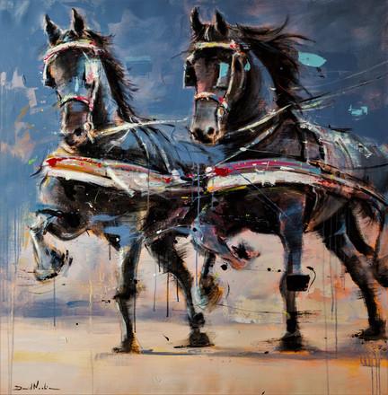 TIRO II, acrylic over canvas. (120x120cm)