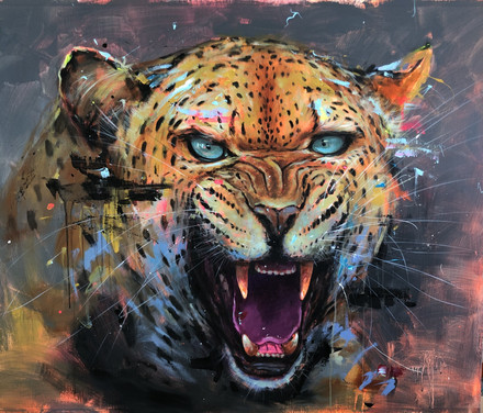 LEOPARD I, acrylic over canvas. (120x100cm)