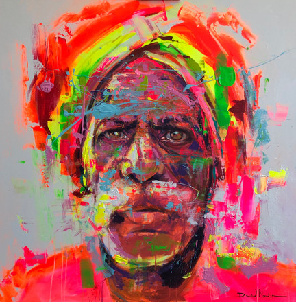 HUM II, acrylic on canvas. (100x100cm)