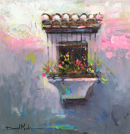 WINDOW IV, acrylic over canvas. (40x40cm)