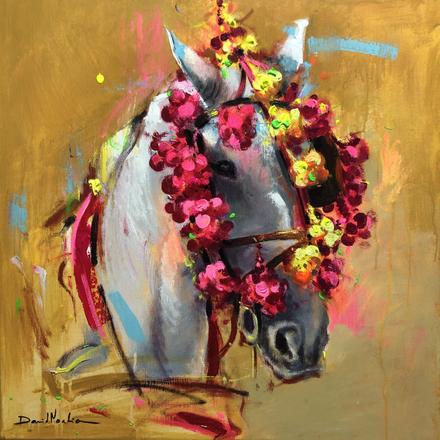 ABRIL II, acrylic over canvas.  (60x60cm)