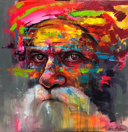 HUM I, acrylic on canvas. (120x120cm)