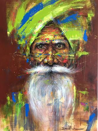 HUM VI, acrylic on canvas. (80x60cm)