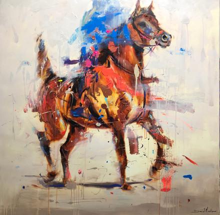 ÁRABE I, acrylic over canvas.  (120x120cm)