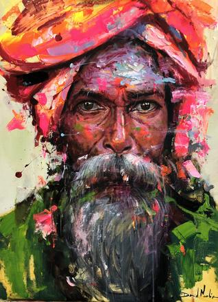 HUM V, acrylic on canvas. (80x60cm)