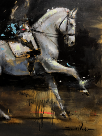 DRESSAGE III, acrylic over canvas. (60x60cm)