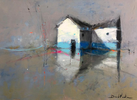 HOME V, acrylic over canvas. (40x60cm)