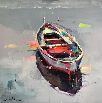 BOAT V, acrylic over canvas. (80x80cm)