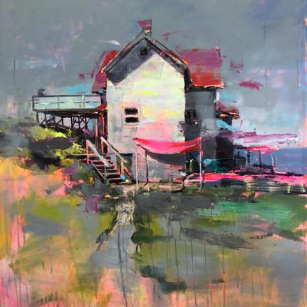 HOME I, acrylic over canvas. (100x100cm)