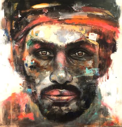 HUM X, acrylic on canvas. (140x140cm)