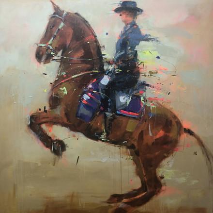 RAMPANT II, acrylic over canvas. (100x100cm)