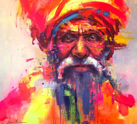 HUM III, acrylic on canvas. (100x100cm)