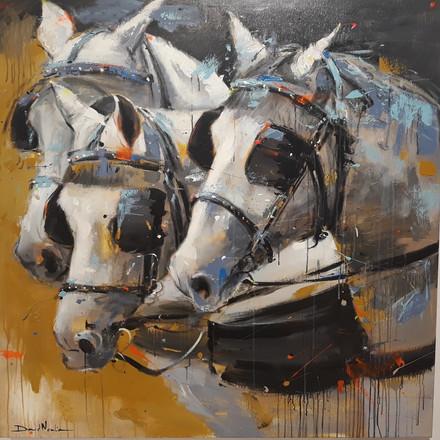TIRO III, acrylic over canvas. (120x120cm)