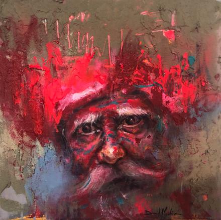 HUM XII, acrylic on canvas. (40x40cm)