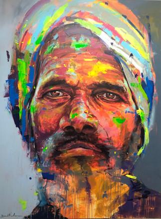 HUM XVII, acrylic on canvas. (160x120cm)